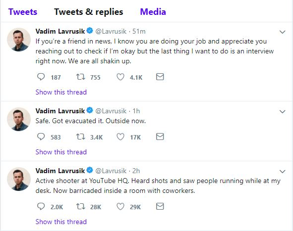 Breaking: Active Shooter Reported at YouTube HQ | Memory Hole Blog