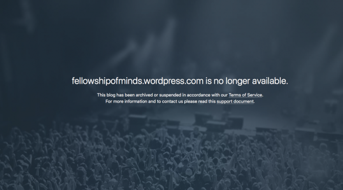 WordPress/Automattic Shuts Down FellowshipoftheMinds