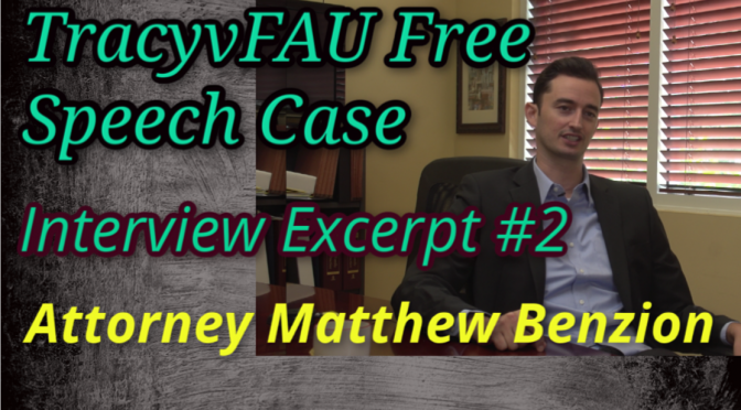 FAU's Suppression of Faculty Speech is Now Federal Law (Video)