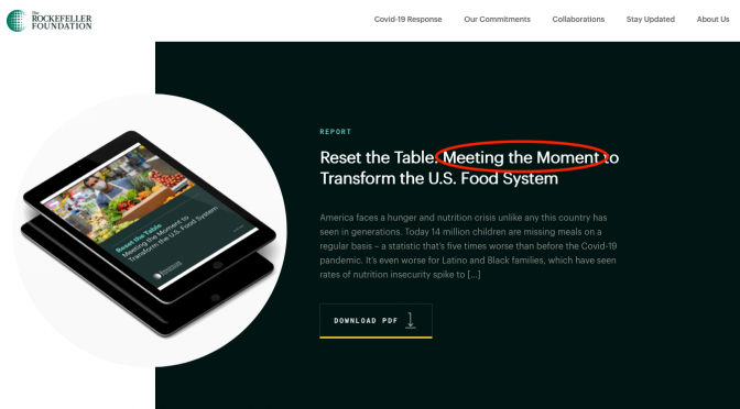 Oct. 25 MHB Report: Rockefeller Foundation Takes Aim at Food (Video)
