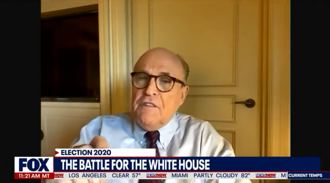 "Rudy Giuliani: Evidence 'Pouring in From All Over Country"" of Voter Fraud (video)"