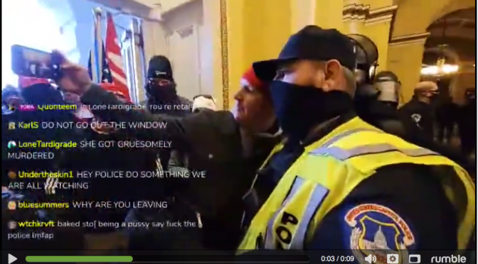 "Capitol Policeman Extra Chummy With ""Violent, Gate-Crashing MAGA Protestor"""