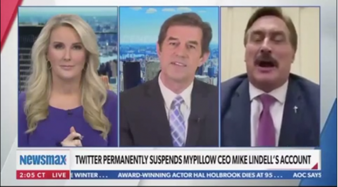 Newsmax Host Cuts Off Mike Lindell and Walks Off Set