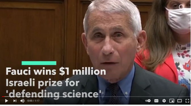 """Flip Flop Fauci"" Given $1 Million For ""Courageously Defending Science"""