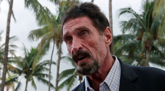 McAfee Widow: I Do Not Accept 'Suicide' Story