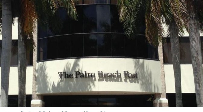 "Palm Beach Post Files TracyvFAU Appeal Story Under ""Crime"""