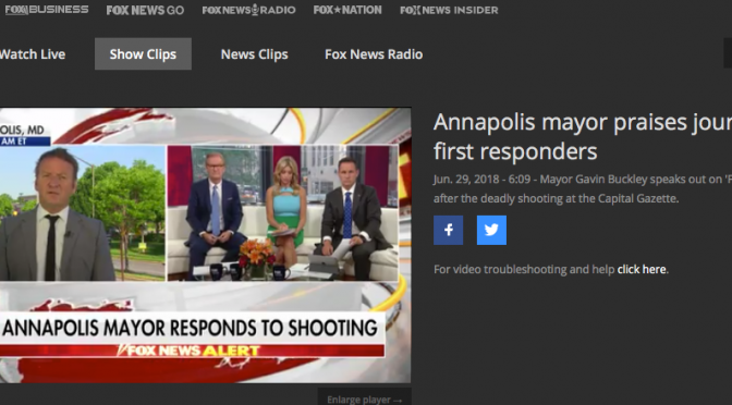 Annapolis Shooting: Mayor Discusses Active Shooter Simulation on National Television