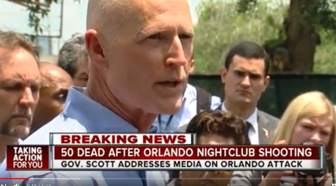 Florida Governor Rick Scott Visits FAU on Same Day University Moved to Fire Prof. James Tracy