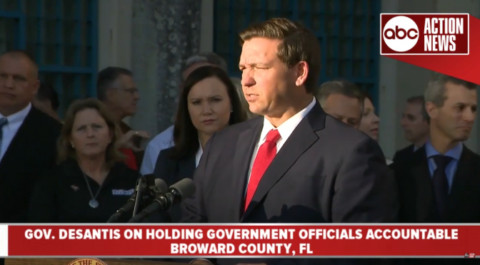 Florida Governor Ron DeSantis Suspends Broward Sheriff Scott Israel