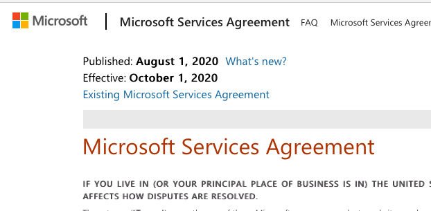 Microsoft New User Agreement Targets User Content
