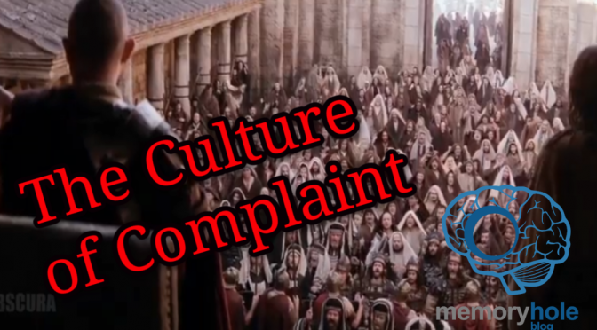 Nov. 1 MHB Report: The Culture of Complaint (Video)