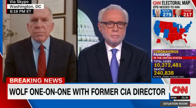 Obama Spy Chief Brennan Wants Trump Out Now