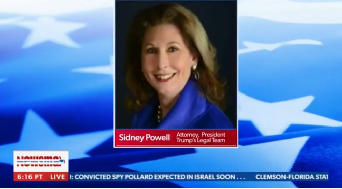 Sidney Powell: 'It Will Be BIBLICAL'