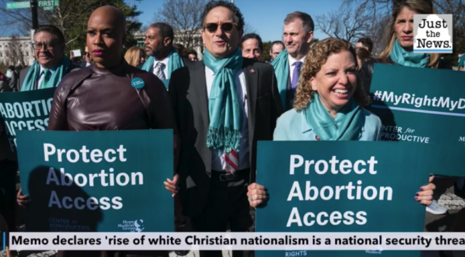 "Biden Admin Set to Target ""White Christian Nationalism"""