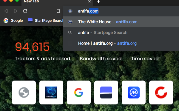 Antifa.com Once Redirected to JoeBiden.com, now Goes to WhiteHouse.gov