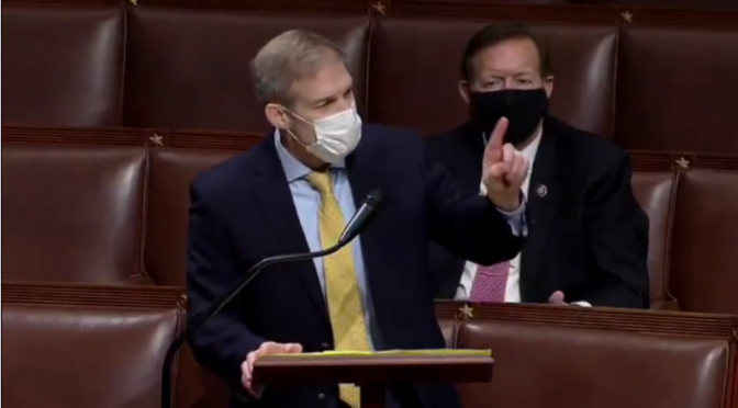 "Jim Jordan Explodes on Democrats for Vote to ""Cancel"" Marjorie Taylor Greene (Video)"
