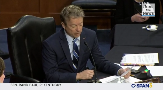 Sen. Rand Paul confronts HHS Nominee Levine on Genital Mutilation