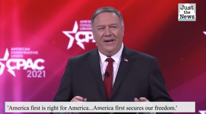 Pompeo at CPAC urges crowd to keep fighting for America-first diplomacy championed by Trump