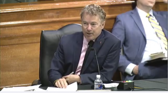 Rand Paul Interrogates Dr. Fauci on China, Infamous Wuhan Lab (Video)