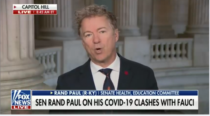 Rand Paul: Fauci Could Be Culpable for the Entire Pandemic (Video)